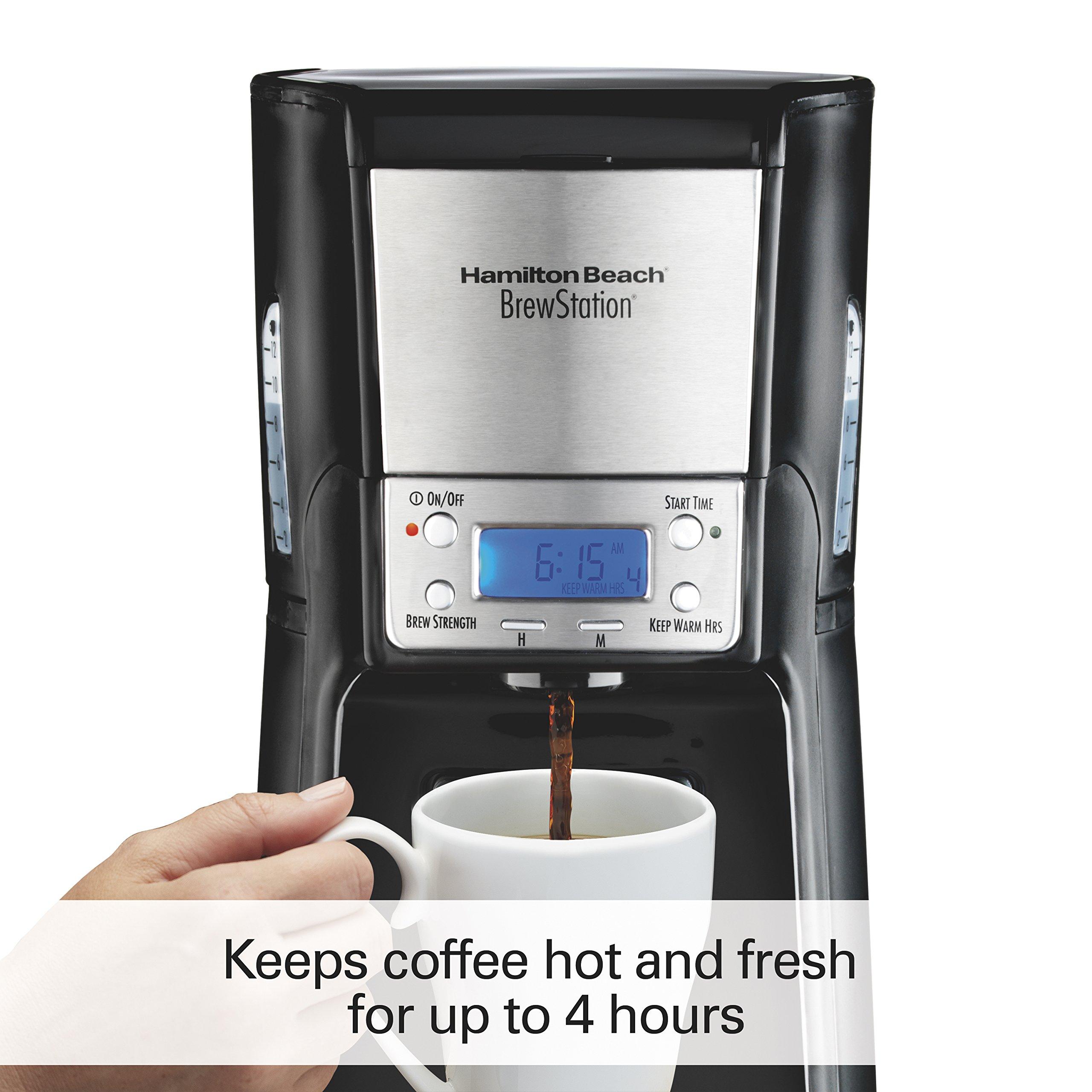 Hamilton Beach (48464) Coffee Maker with 12 Cup Capacity & Internal Storage Coffee Pot, Brewstation, Black by Hamilton Beach (Image #3)