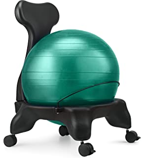 Nice Ball Chair, LuxFit Premium Fitness Exercise Ball Chairs For Home And Office  2 Year Warranty