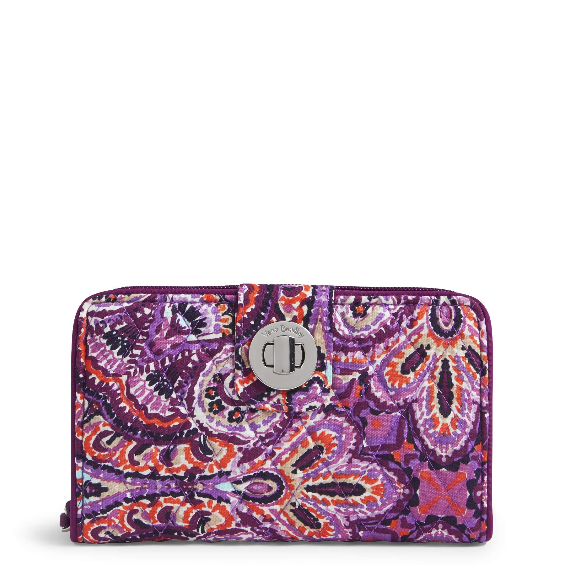 Vera Bradley RFID Turnlock Wallet, Signature Cotton, dream tapestry