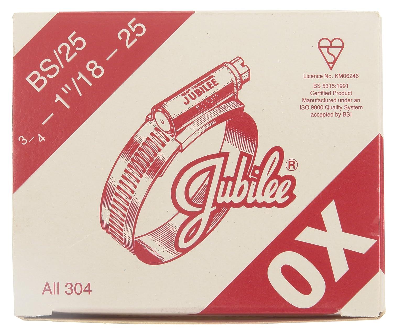 Jubilee 0XSS Hose Clip S//S 18-25 mm