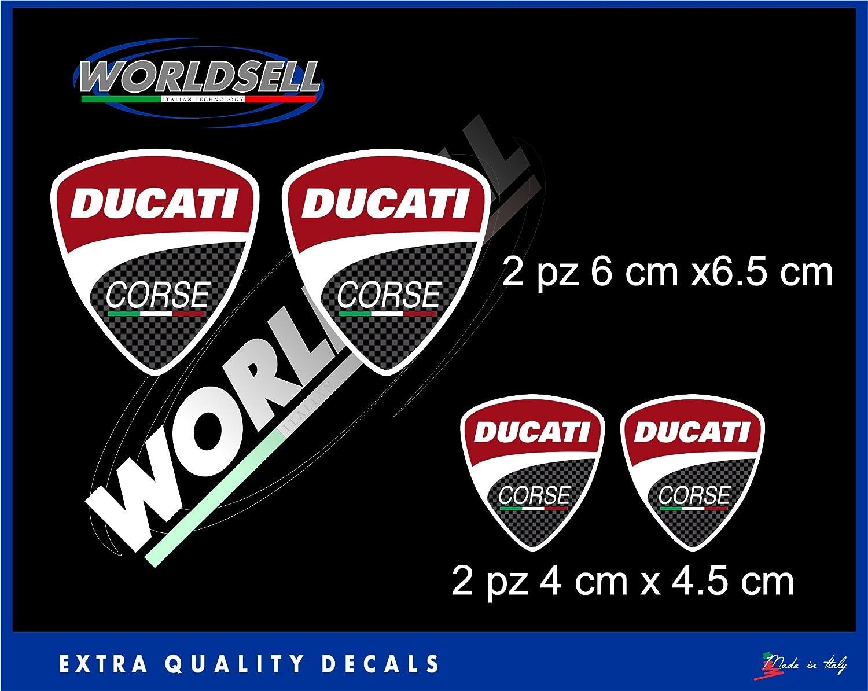 Pegatinas Sticker 4pz Ducati Corse Panigale Monster 1098 1198 848 748 Hypermotard: Amazon.es: Juguetes y juegos