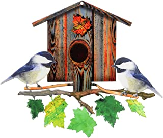 product image for Next Innovations 101120001 Nature's Symphony Chickadees Birdhouse Metal Wind Spinner