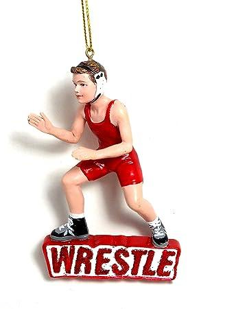 Amazon.com: Kurt Adler Wrestling Boy Christmas Ornament: Home ...