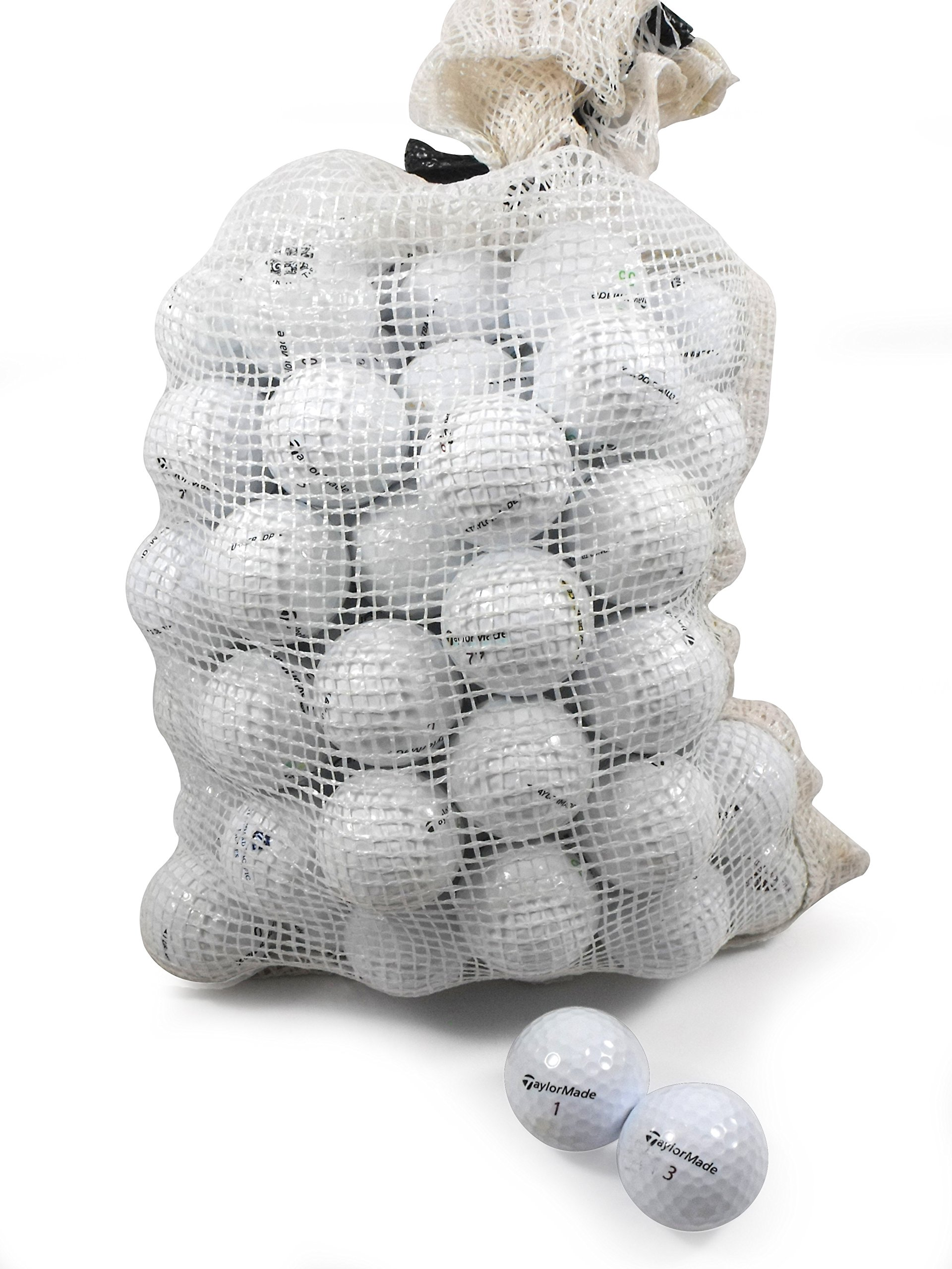 Recycled Used Golf Balls Cleaned - Taylormade B/C Grade Golf Balls 72 Balls Assorted Models in Onion Mesh Bag by TaylorMade