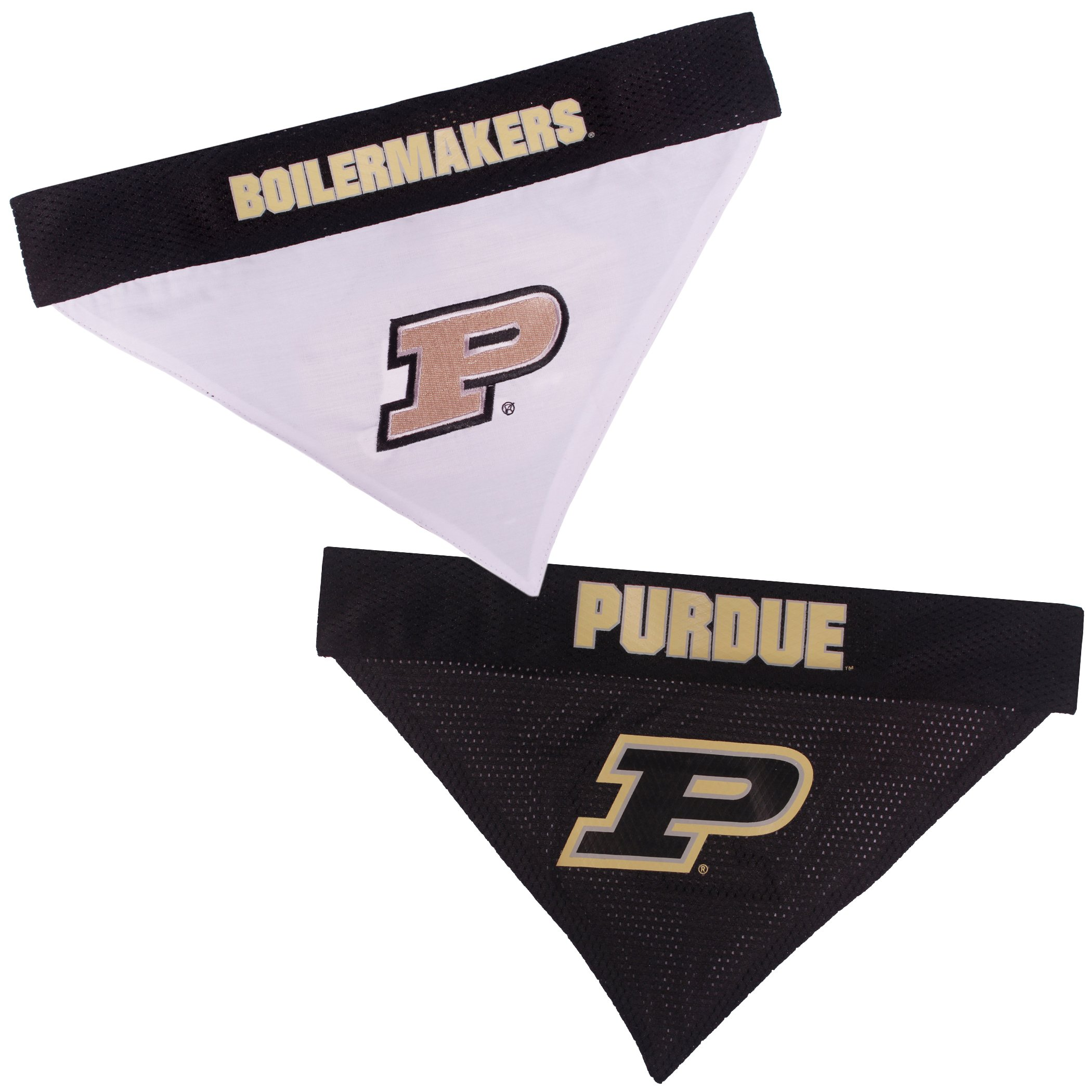 Pets First Collegiate Pet Accessories, Reversible Bandana, Purdue Boilermakers, Large/X-Large