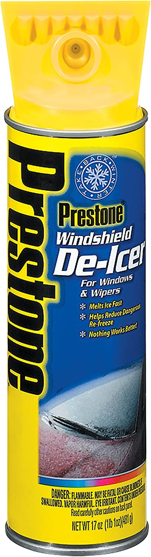 Prestone AS244-6PK Windshield De-Icer - 17 oz. Aerosol, (Pack of 6)