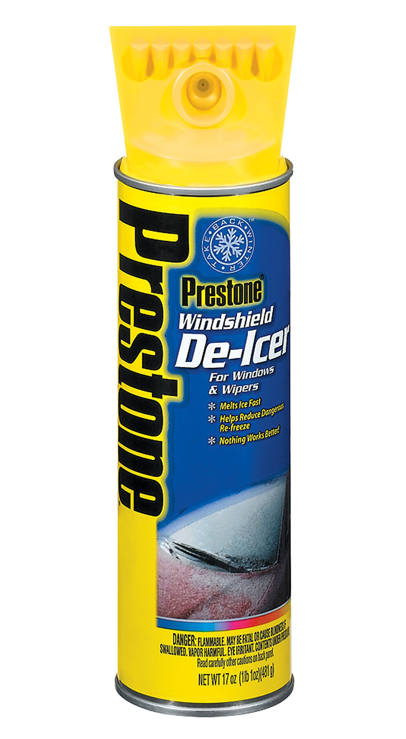 Prestone AS244-6PK Windshield De-Icer - 17 oz. Aerosol, (Pack of 6) by Prestone