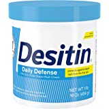 Desitin Daily Defense Baby Diaper Rash Cream with Zinc Oxide to Treat, Relieve & Prevent diaper rash, Hypoallergenic, Dye-, Phthalate- & Paraben-Free, 16 oz, Ivory