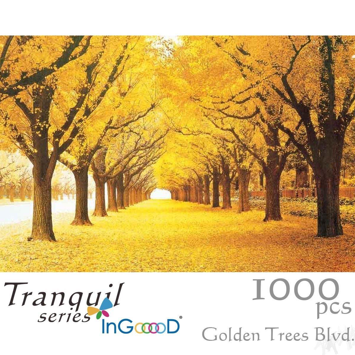 【開店記念セール!】 Ingooood Pieces Tranquil Blvd- Series- Golden Trees Series- Blvd- Jigsaw Puzzles 1000 Pieces for Adult B07FD3Z2Q9, 島根県出雲地方の酒蔵 竹下本店:b134d411 --- 4x4.lt