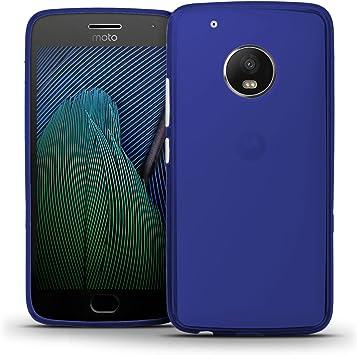 TBOC® Funda de Gel TPU Azul para Motorola Moto G5 Plus (5.2 ...