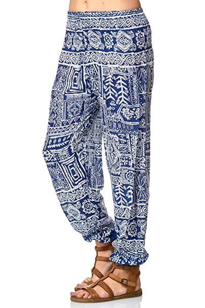 MATKA Damen Sommerhose All Over Print Haremhose