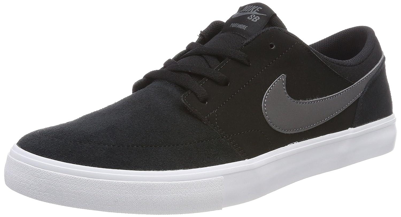 NIKE Men's Sb Portmore Ii Solar Ankle-High Canvas Skateboarding Shoe B01K3ILQSI 11.5 M US|Black/Dark Grey-White