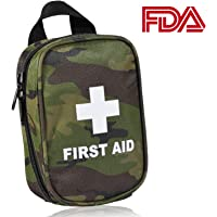 First Aid Kit for Hiking, Backpacking, Camping, Travel, Car & Cycling. with Waterproof Laminate Bags You Protect Your Supplies! Be Prepared for All Outdoor Adventures or at Home & Work