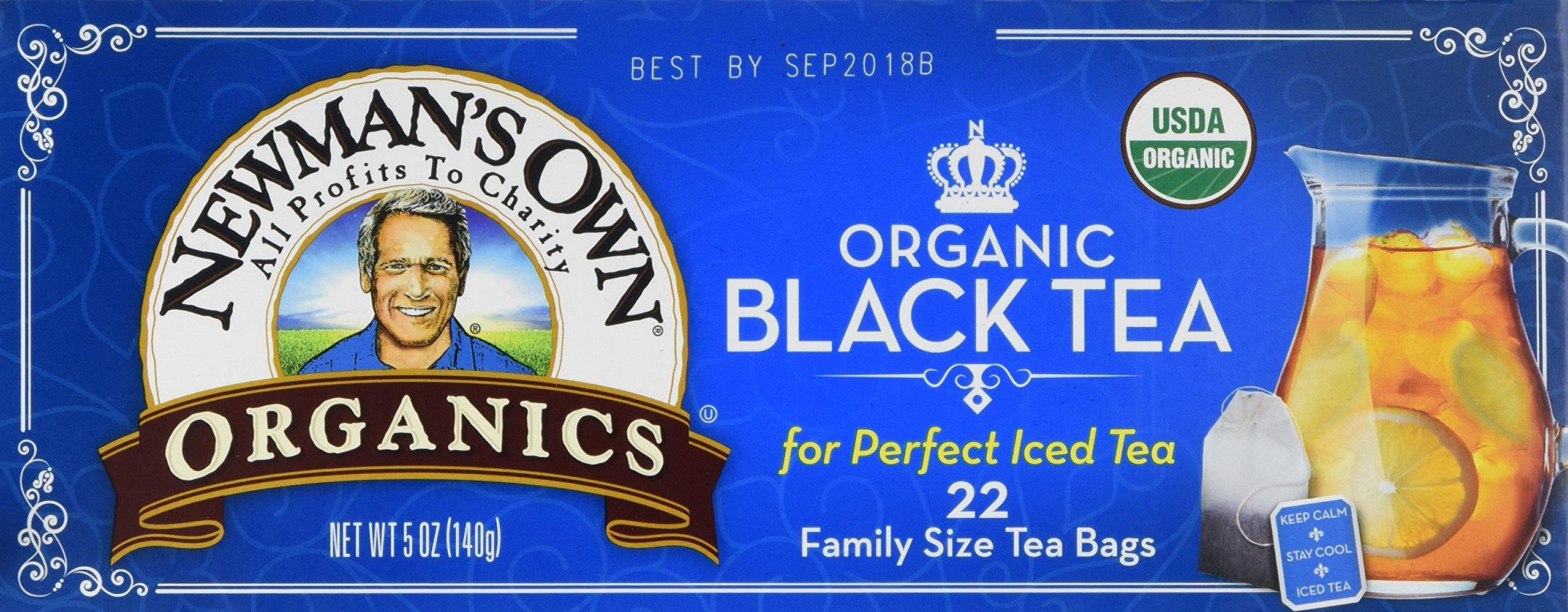 Newman'S Own Organics Organic Black Tea Family Size ( 6x22 CT)