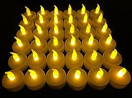 無焰 LED 茶蠟燭,Vivii 電池供電無香型 LED 青香蠟燭,假蠟燭,茶蠟(36 件裝)
