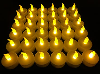 Flameless LED Tea Light Candles, Vivii Battery-Powered Unscented LED on