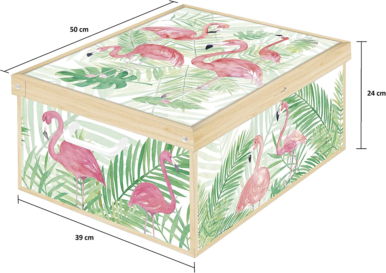 Kanguru Peluches Caja de Almacenamiento en cart/òn Lavatelli facil Montaje Grande Resistente 39x50x24cm 39x50x24 cm