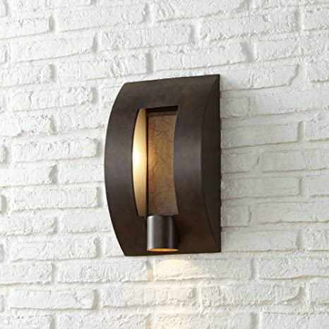 Modern Outdoor Wall Light Fixture Bronze 16 Framed Slate For Exterior House Patio Porch Franklin Iron Works