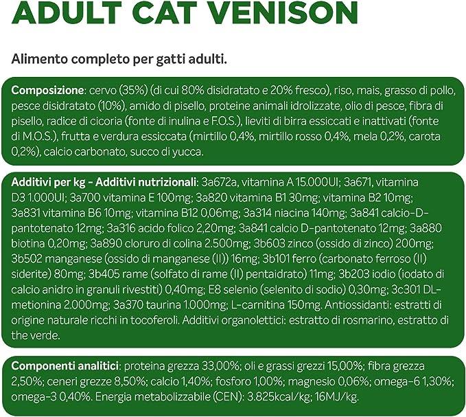 Alleva Equilibrium Sensitive Venison Adult Cat 400 g: Amazon ...