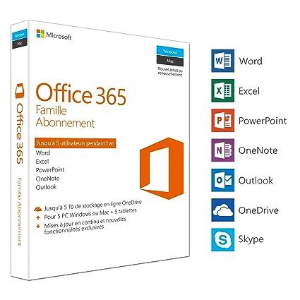 Microsoft Office 365 Famille 5 Pc Windows Ou Mac 5 Tablettes 1