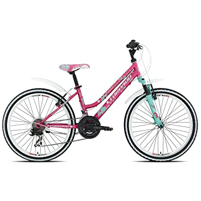 "'Torpado vélo VTT Junior Candy 24""3x 6V Rose Candy (enfant)/Bicycle VTT Junior 243x 6s pink (Kid)"