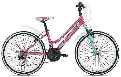 Torpado Bici Mtb Junior Candy 24 3x6v Rosa Bambino Bicycle Mtb