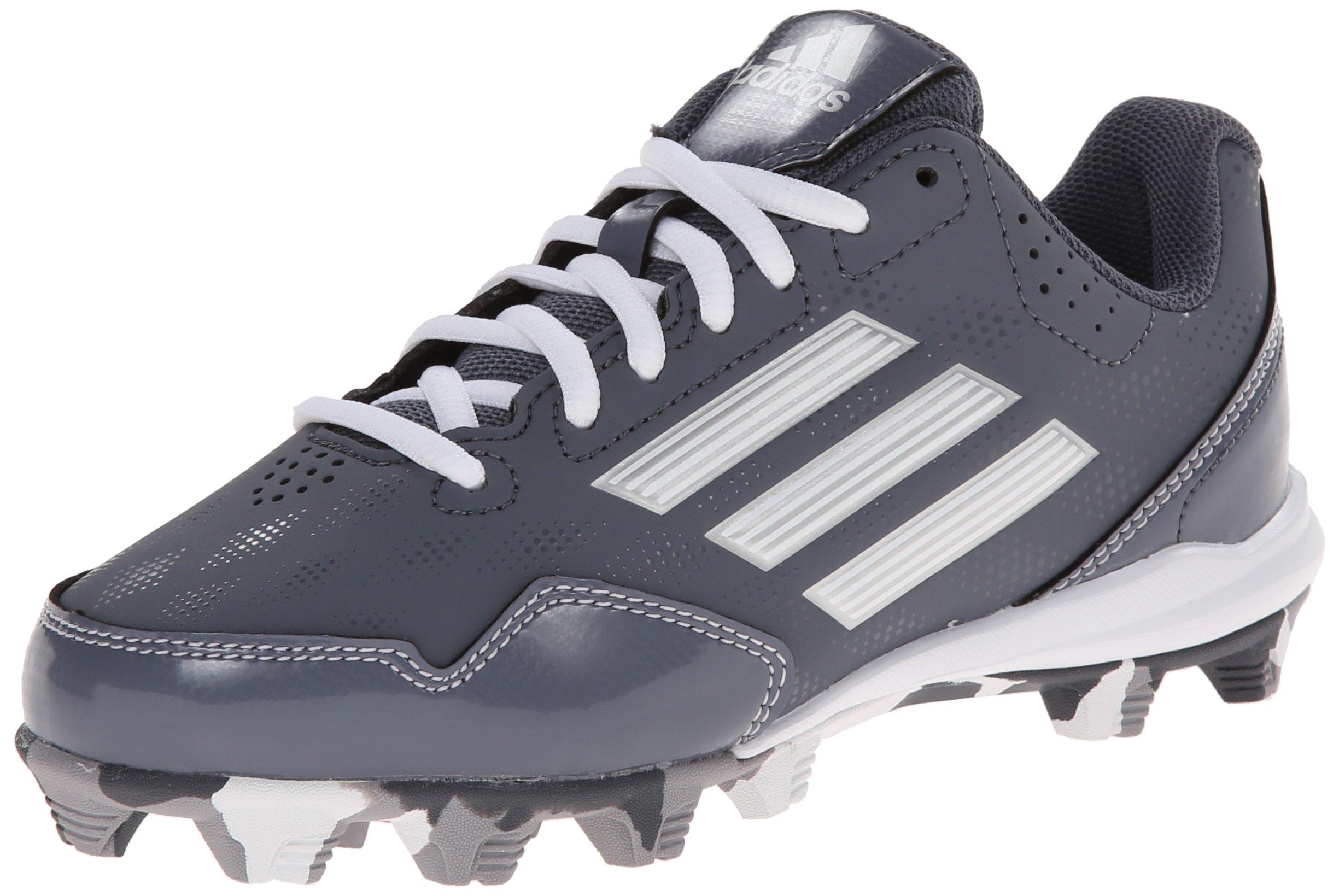 adidas Performance Wheel House 2 K Baseball/Softball Shoe (Little Kid/Big Kid), Onix/Metallic/Silver/White, 4 M US Big Kid by adidas Originals