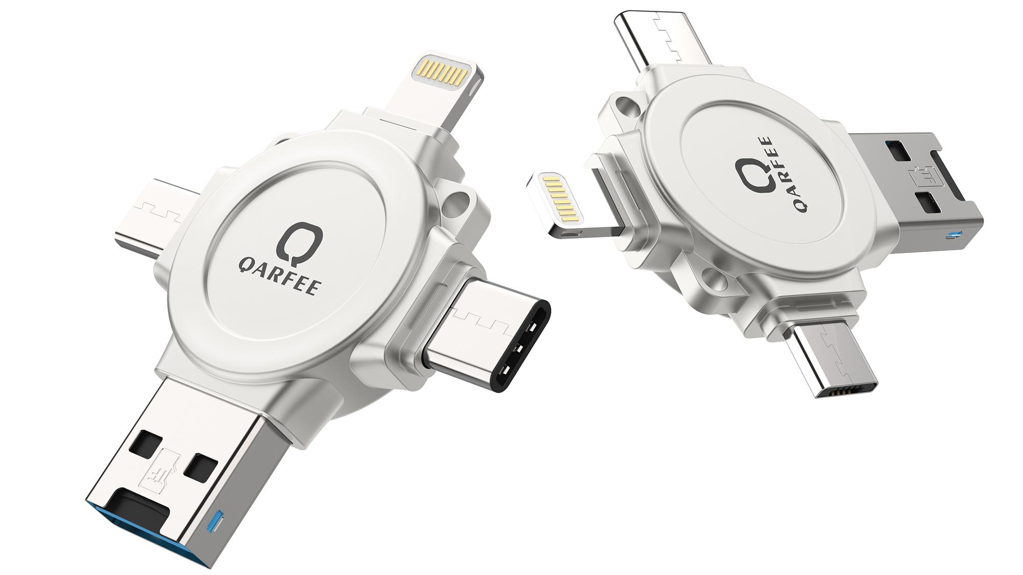 QARFEE-4IN1 32GB Type C USB Flash Drive,Memory Card Reader for Micro SD,Metal...
