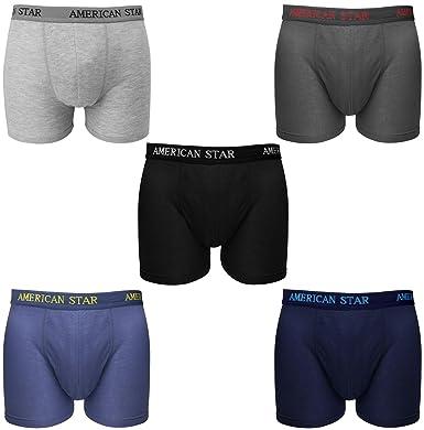 Falari 5-Pack Men s Boxer Briefs Underwear 100% Cotton Comfort at ... 81f6827105e