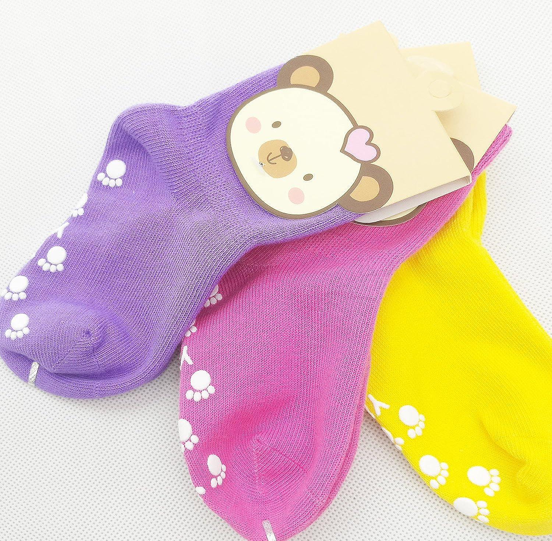 TUKA Anti-scivolo ABS Calzini per Bambini calzini Antiscivolo con grip per ragazzi neonati TKB7000