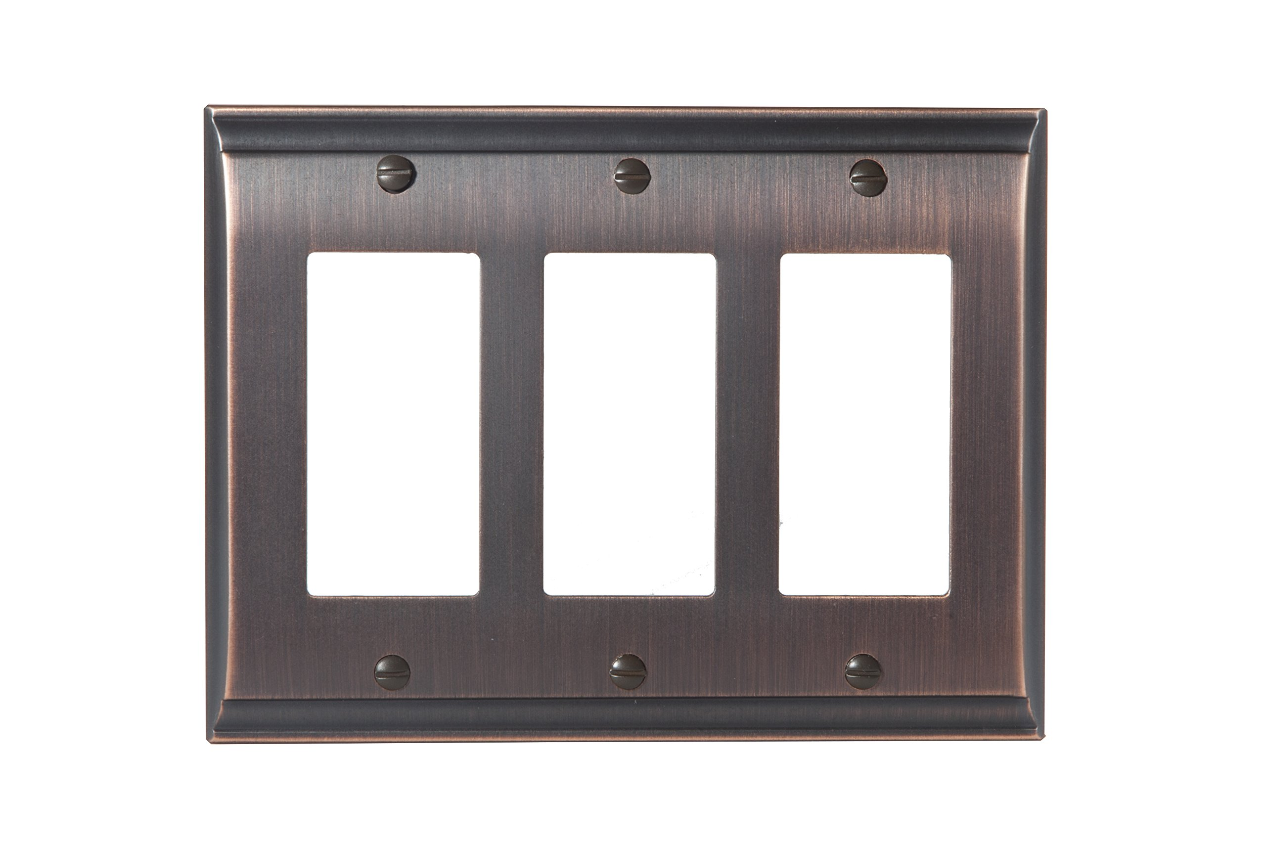 Amerock BP36506ORB Candler 3 Rocker Wall Plate - Oil-Rubbed Bronze by Amerock