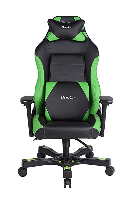 Clutch Chairz Shift Series Alpha Mid-Sized Gaming Chair (Green)