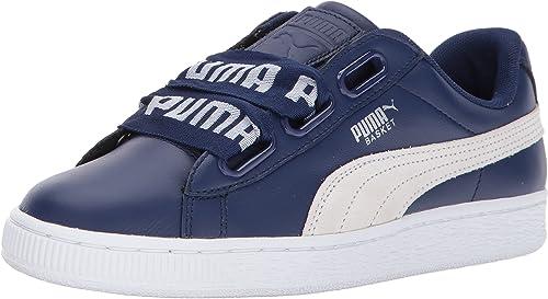 Blue Puma Basket Heart DE Sneakers Womens