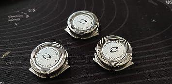 Recambio 3 uds. Cuchillas de 2 cuernos Premium para afeitadora Philips máquina de afeitar HQ8885 HQ8894 HQ8865 HQ8880 HQ8445 HQ8870 PT710 PT715 PT720 PT724 PT725 ...