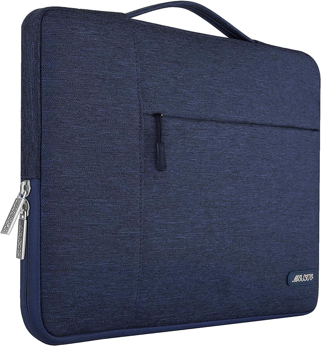 MOSISO Funda Blanda Compatible con 13-13,3 Pulgadas MacBook Air/MacBook Pro Retina/2019 Surface Laptop 3/Surface Book 2, Poliéster Maletín Protectora Multifuncional Bolso, Azul Marino