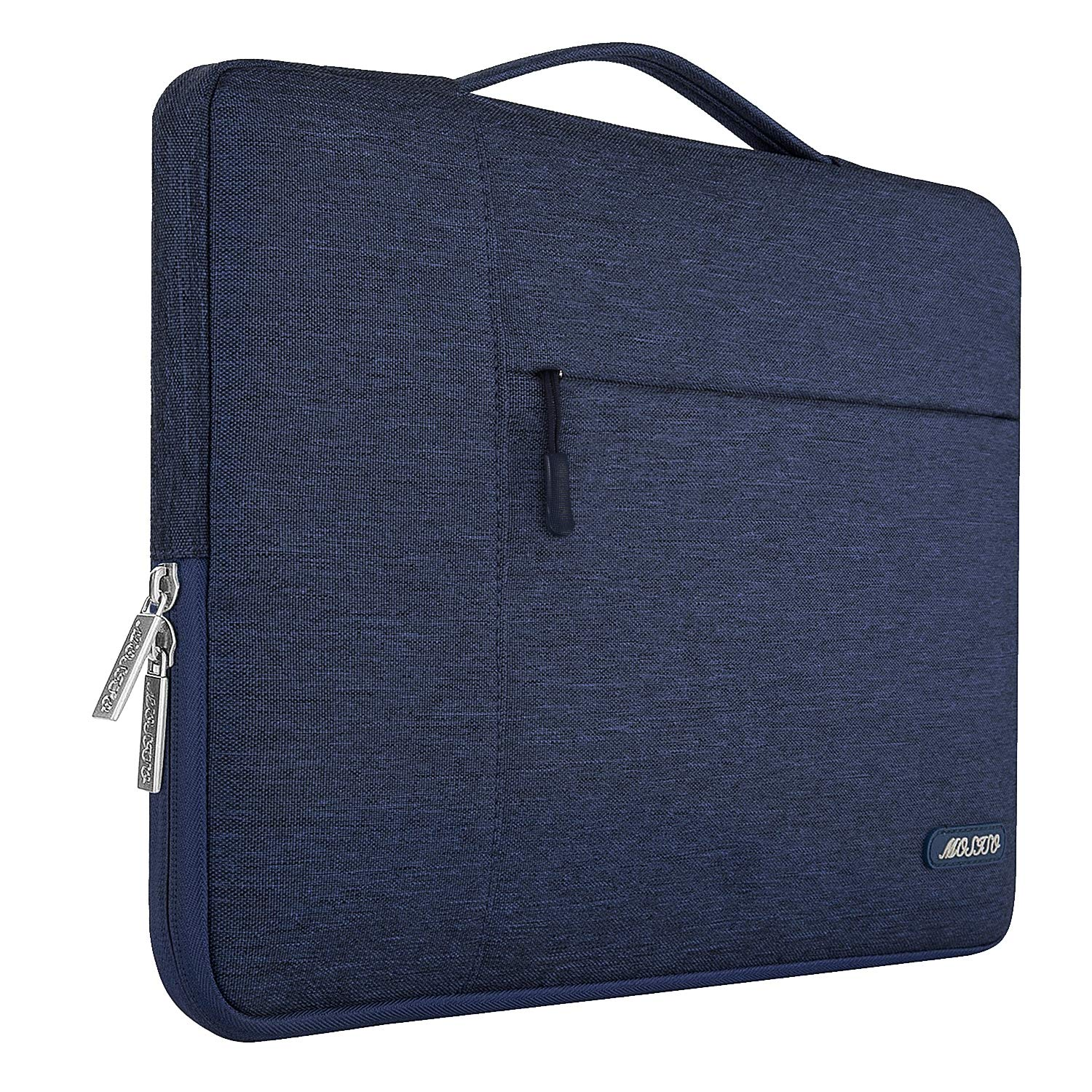 MOSISO Maletín Compatible con 13-13,3 Pulgadas MacBook Air/MacBook Pro Retina/2019 Surface Laptop 3/Surface Book 2, Poliéster Funda Blanda Protectora ...