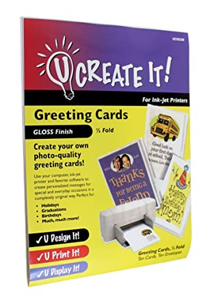 photograph relating to Printable Foid Card Application titled U Acquire IT! Gloss End Greeting Playing cards 50 percent-Fold 10-Pack