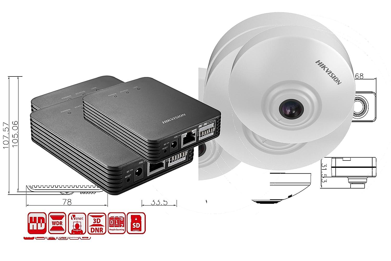 IDS de 2cd6412fwd/C Hikvision, 1/3 CMOS IP Dome Cámara Incluye discretos unidad de análisis: Amazon.es: Electrónica