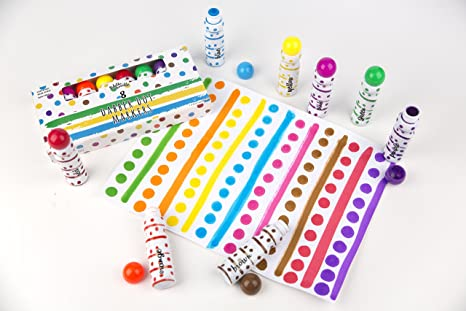 Amazon.com: Dabber Dot Markers (8 Vibrant Colors) – Promotes ...
