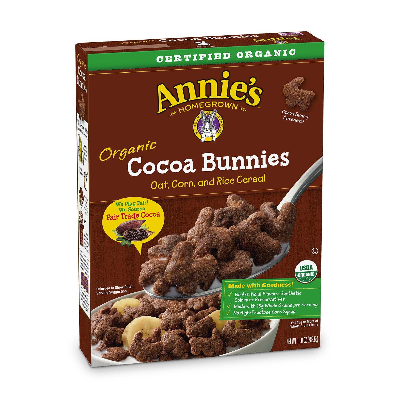 Amazon.com: Annie's Organic Cereal, Cocoa Bunnies, Oat, Corn, Rice ...