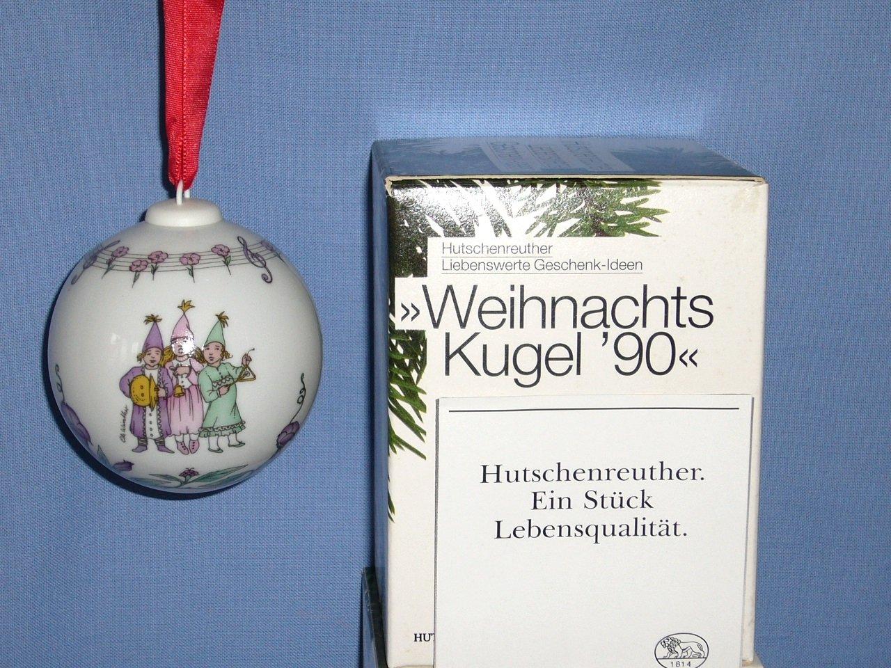 /% Weihnachtskugel 1989 OVP von Hutschenreuther  /%