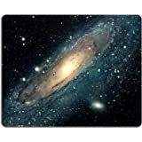 Galaxy Universe Stars Outer Space Mouse Pads Customized Made to Order Support Ready 9 7/8 Inch (250mm) X 7 7/8 Inch (200mm) X 1/16 Inch (2mm) High Quality Eco Friendly Cloth with Neoprene Rubber Luxlady Mouse Pad Desktop Mousepad Laptop Mousepads Comfortable Computer Mouse Mat Cute Gaming Mouse pad
