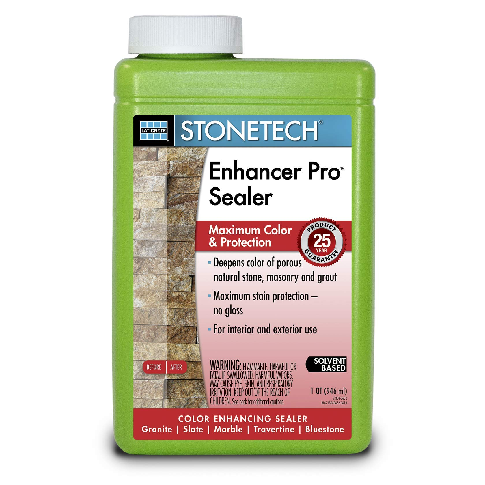 Laticrete Stonetech Enhancer Pro Sealer - 1-Quart by Laticrete