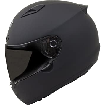 MT Matrix Solid Motorcycle Helmet L Matt Black