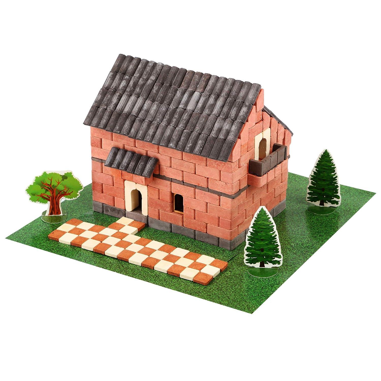 Wise Elk Irish House Natural Ceramic Building Model Kit, Includes Glue, 450Piece