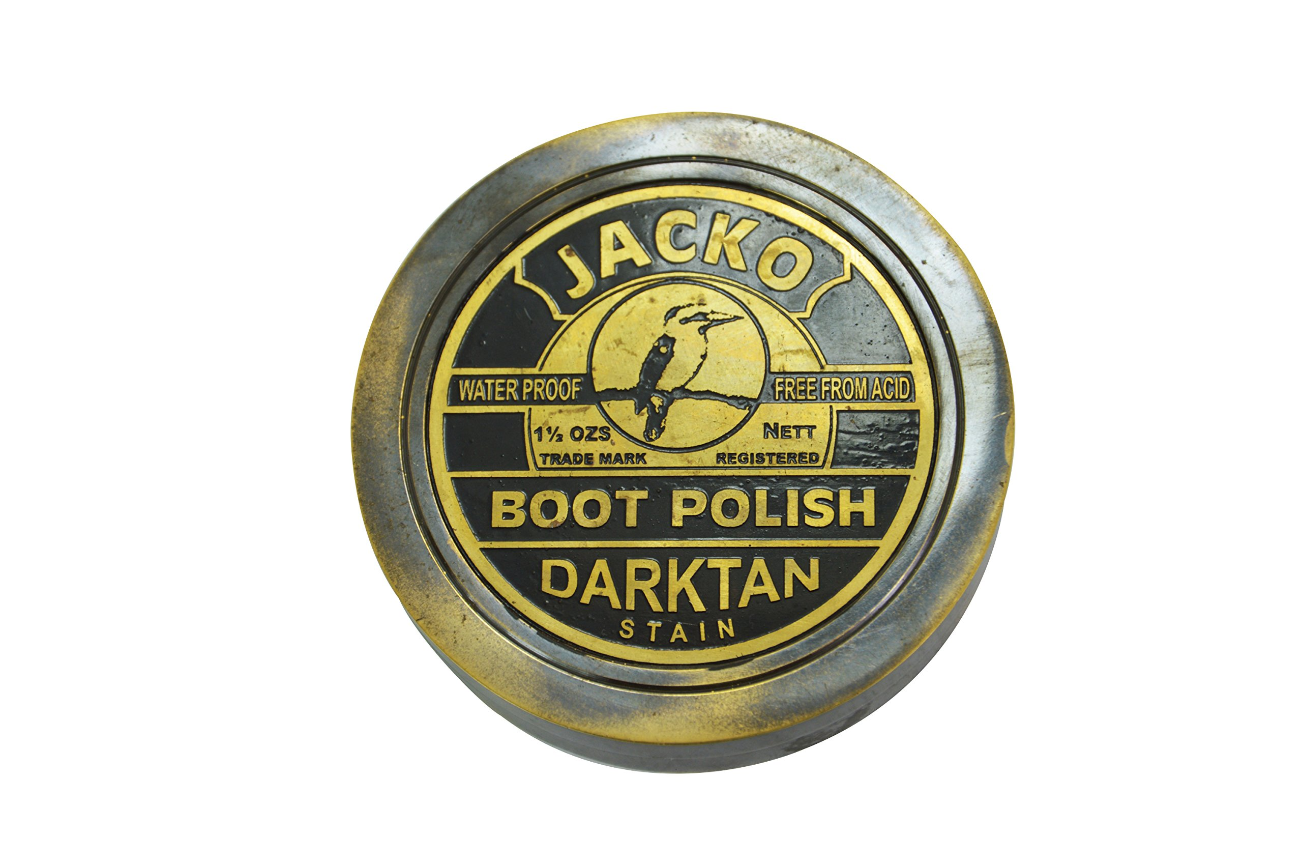 Boot Polish Handmade Poem Pocket Sundial Compass Collectibles Navigation 3'' Black