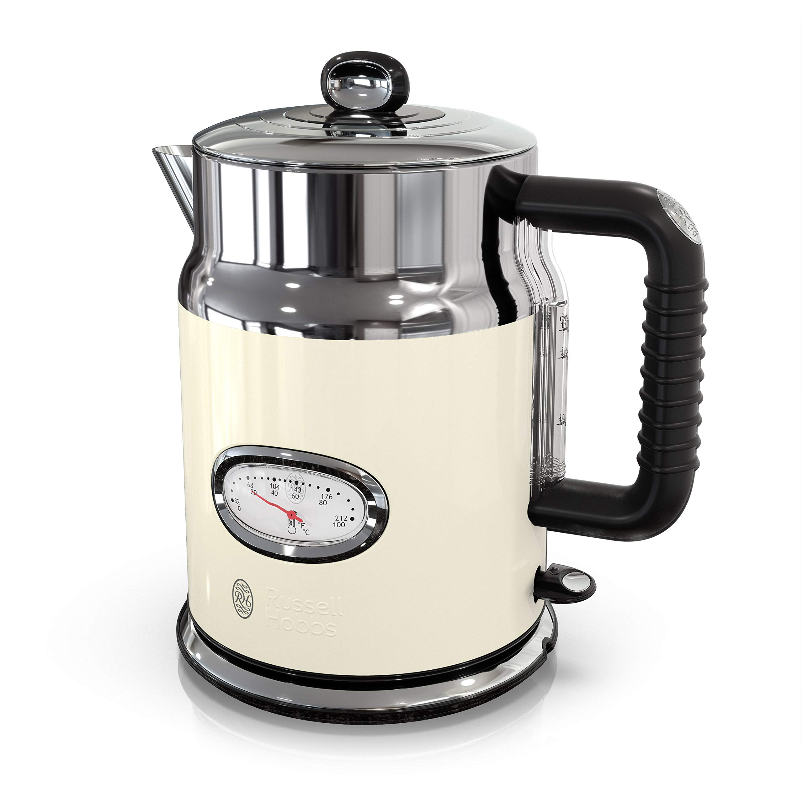 Russell Hobbs KE5550CRR Retro Style Electric Kettle, 1.7L, Cream by Russell Hobbs (Image #1)