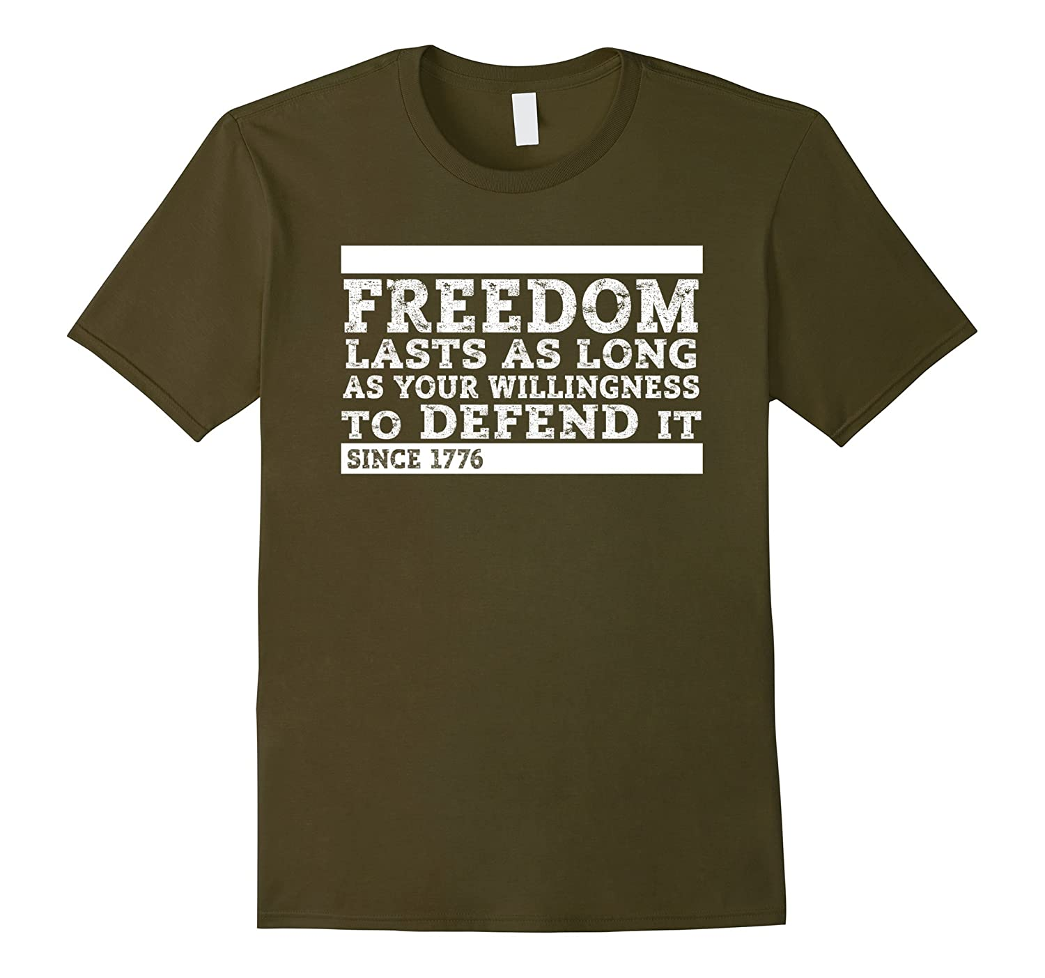 Freedom Lasts Willingness Defend It America Free 1776 Shirt-Vaci