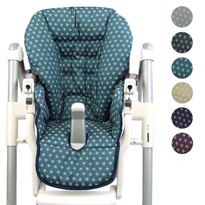 asiento de almohada Bambini Mundo Funda de repuesto funda para Peg Perego de Prima de Pappa de diner estrellas beige beige