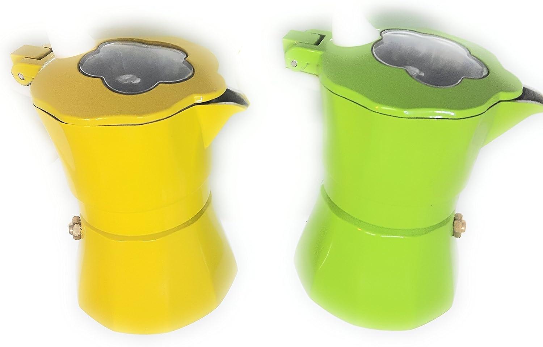 Cafetera Moka 3 tazas amarilla o verde a 2ª disponibilita ...